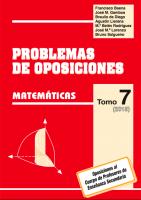 portada volumen 7 oposiciones matemáticas secundaria